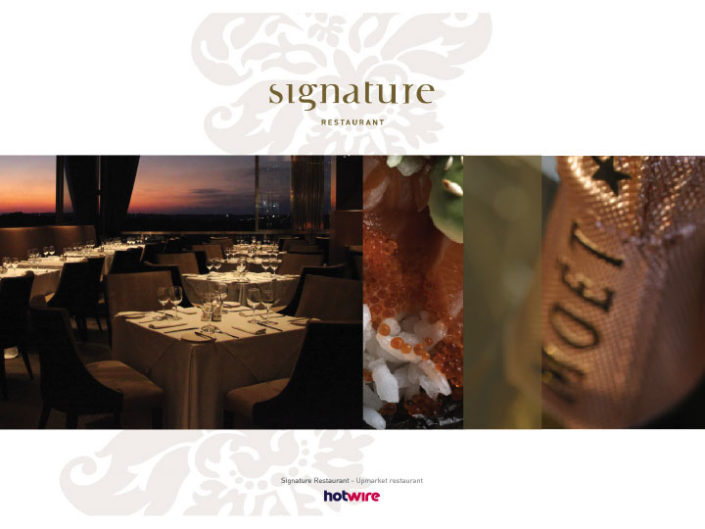 Signature Restaurant | hotwire Marketing